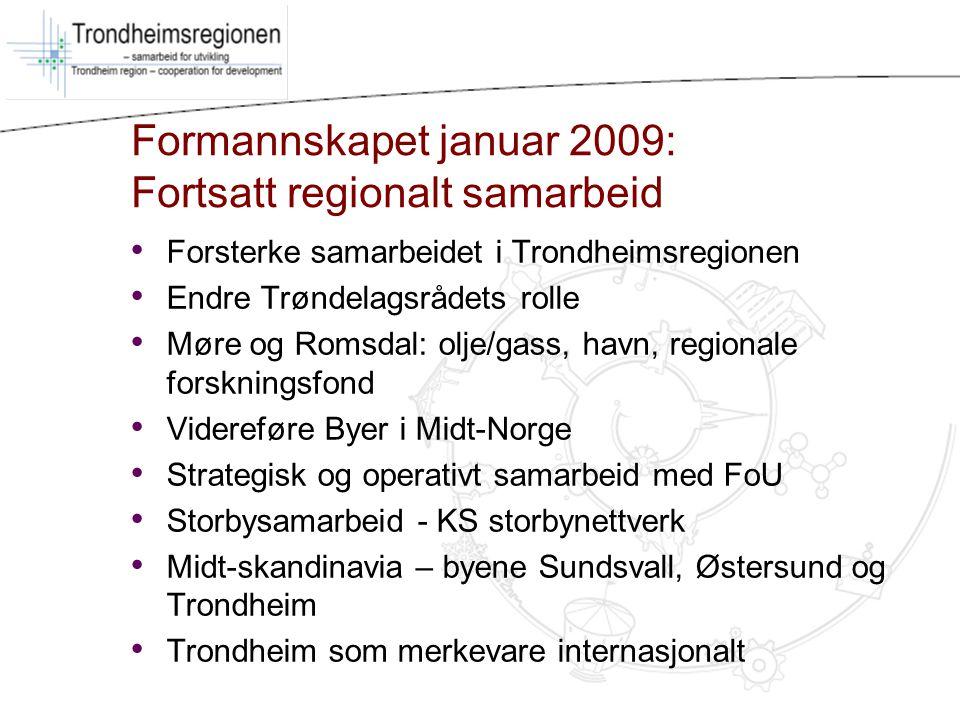Formannskapet januar 2009: Fortsatt regionalt samarbeid