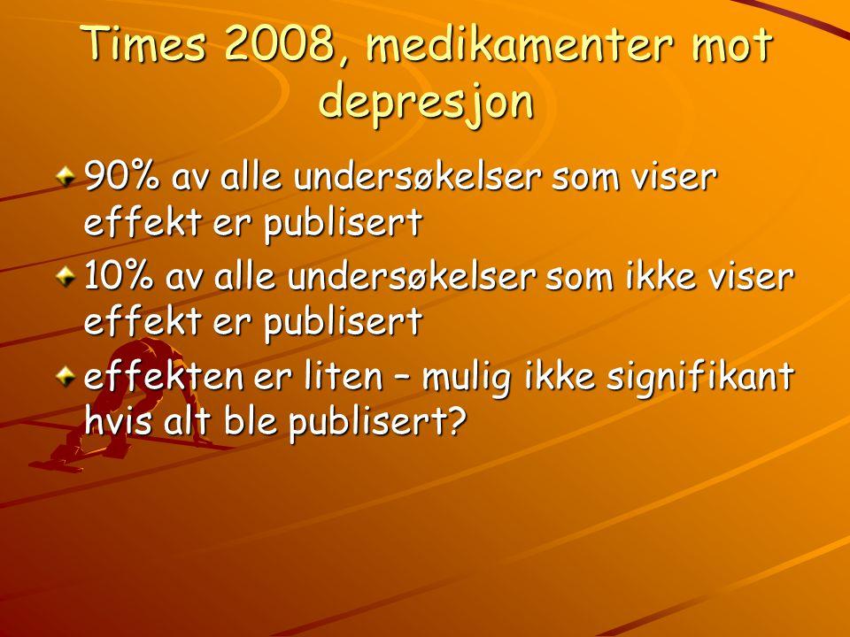 Times 2008, medikamenter mot depresjon