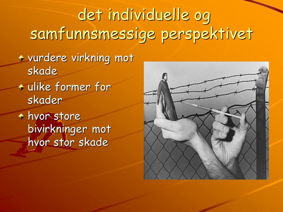 det individuelle og samfunnsmessige perspektivet