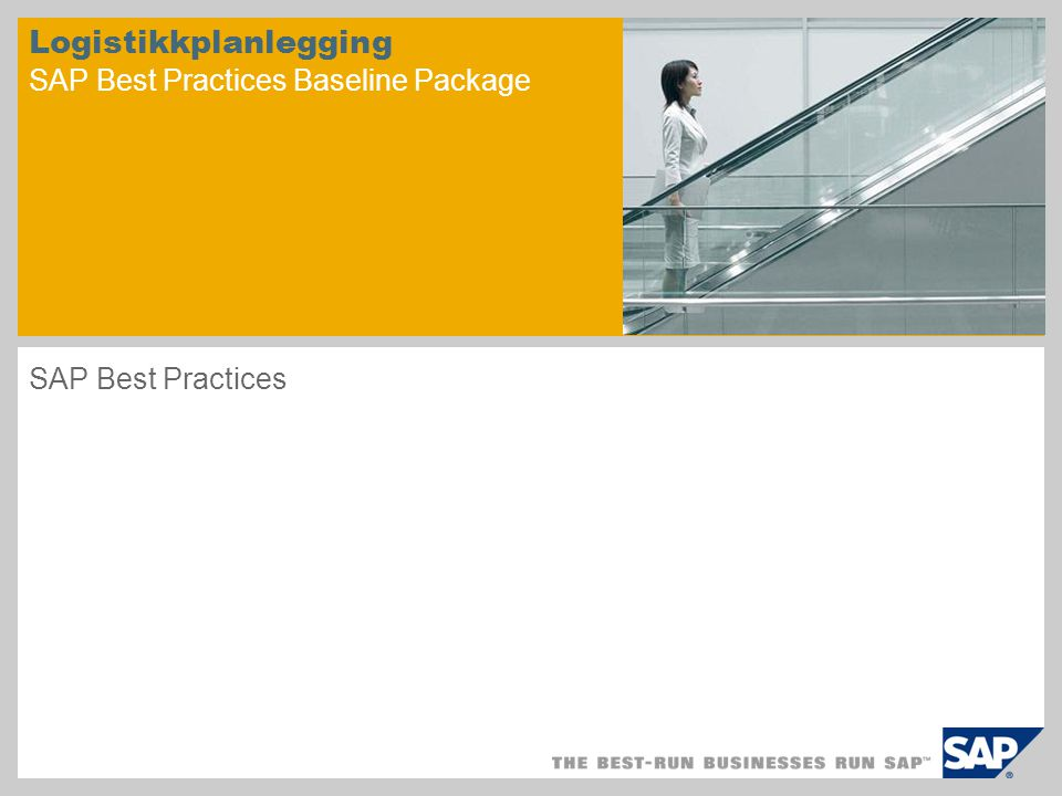 Logistikkplanlegging SAP Best Practices Baseline Package
