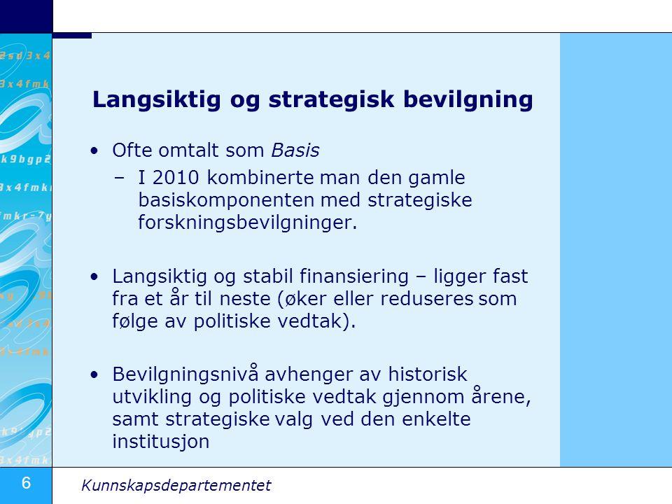 Langsiktig og strategisk bevilgning