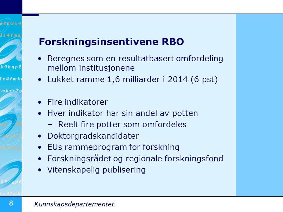Forskningsinsentivene RBO
