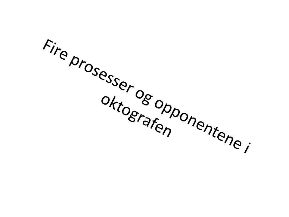 Fire prosesser og opponentene i oktografen