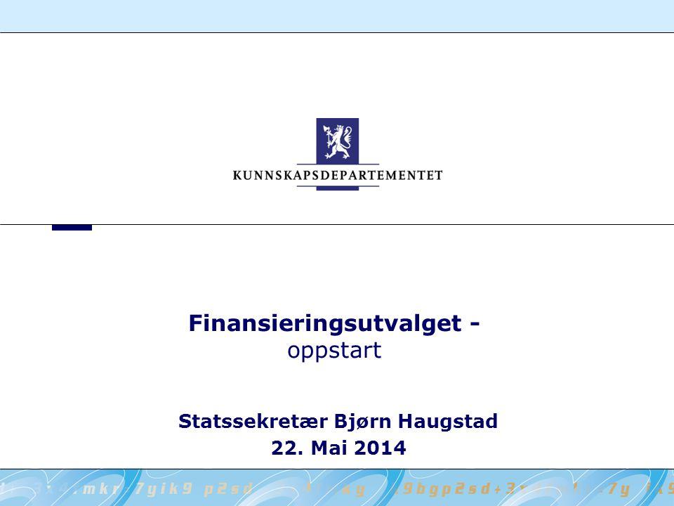 Finansieringsutvalget - oppstart