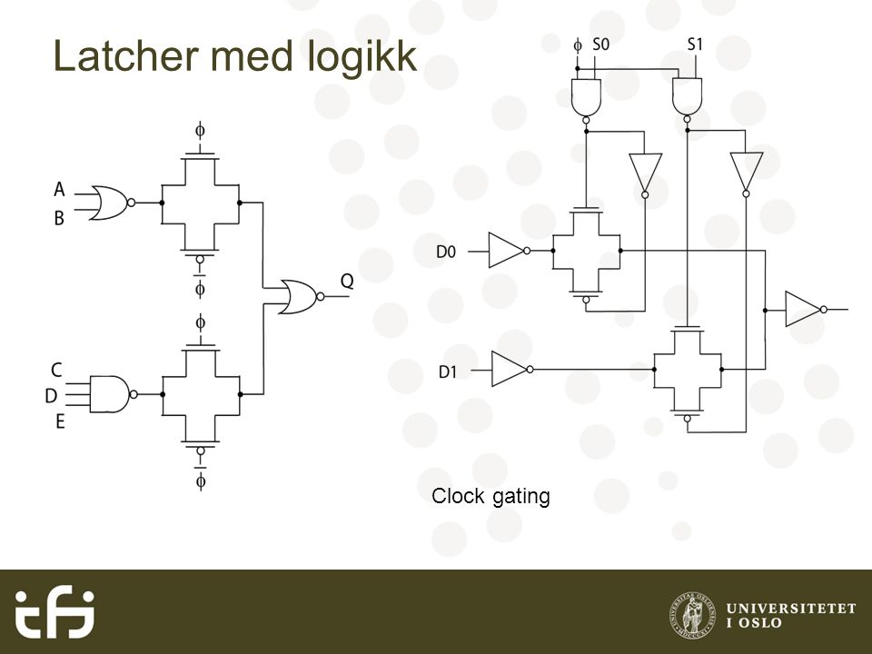 May 2004 Latcher med logikk Clock gating Håvard Kolle Riis