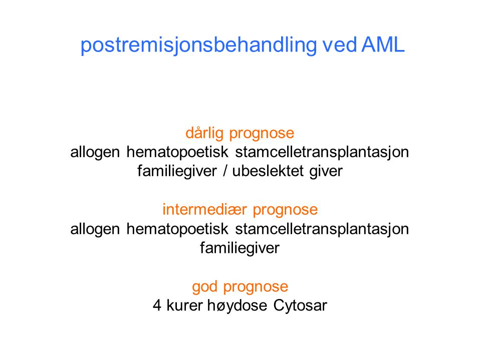 postremisjonsbehandling ved AML