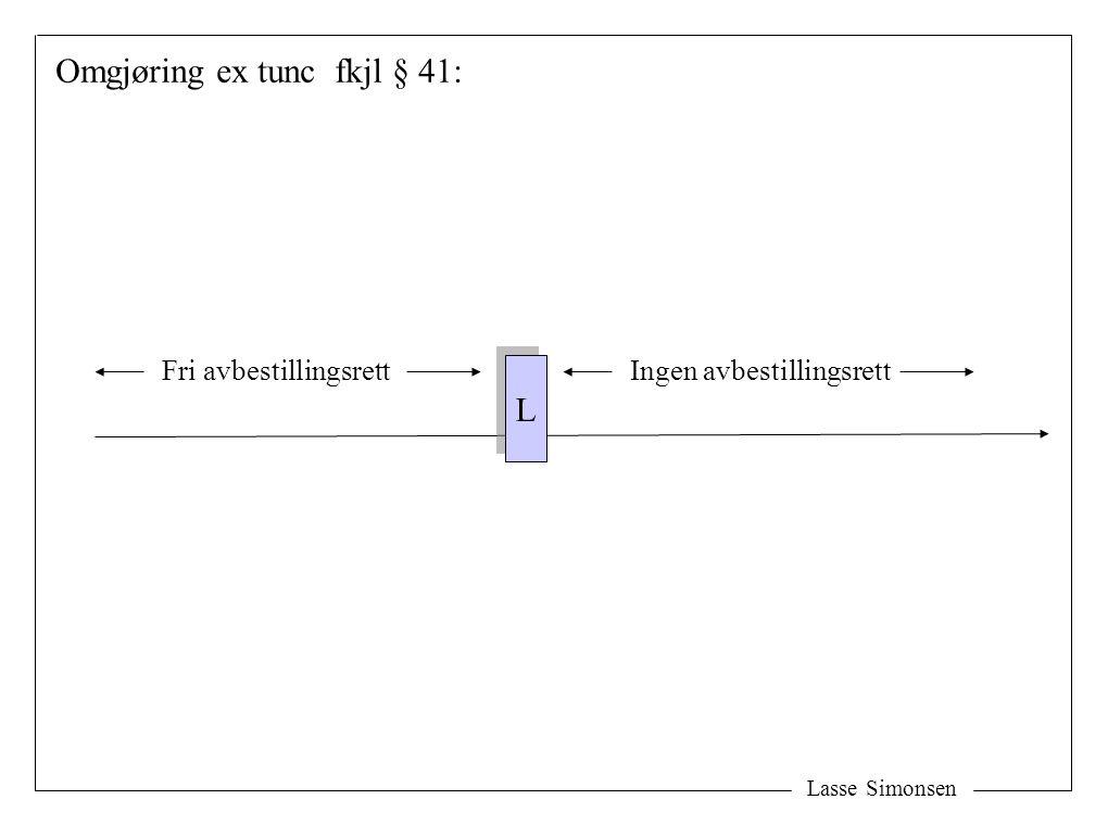 Omgjøring ex tunc fkjl § 41: