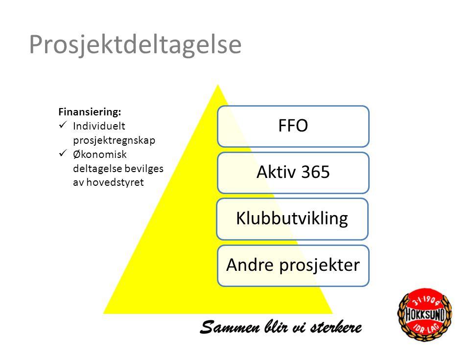 Prosjektdeltagelse FFO Aktiv 365 Klubbutvikling Andre prosjekter