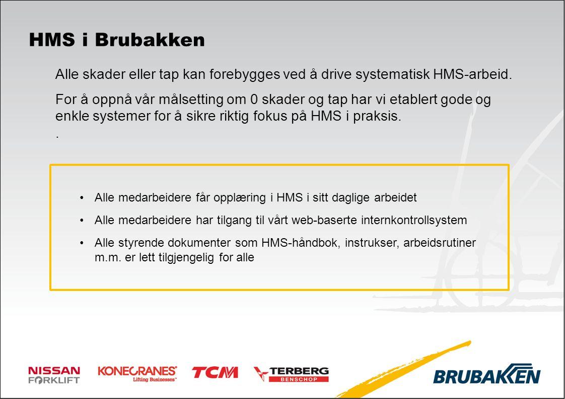 HMS i Brubakken Alle skader eller tap kan forebygges ved å drive systematisk HMS-arbeid.