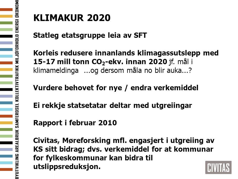 KLIMAKUR 2020 Statleg etatsgruppe leia av SFT