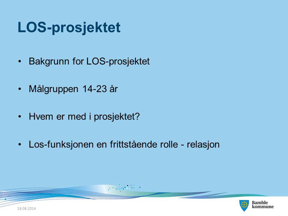LOS-prosjektet Bakgrunn for LOS-prosjektet Målgruppen 14-23 år