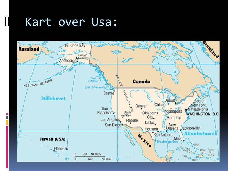 Kart over Usa: