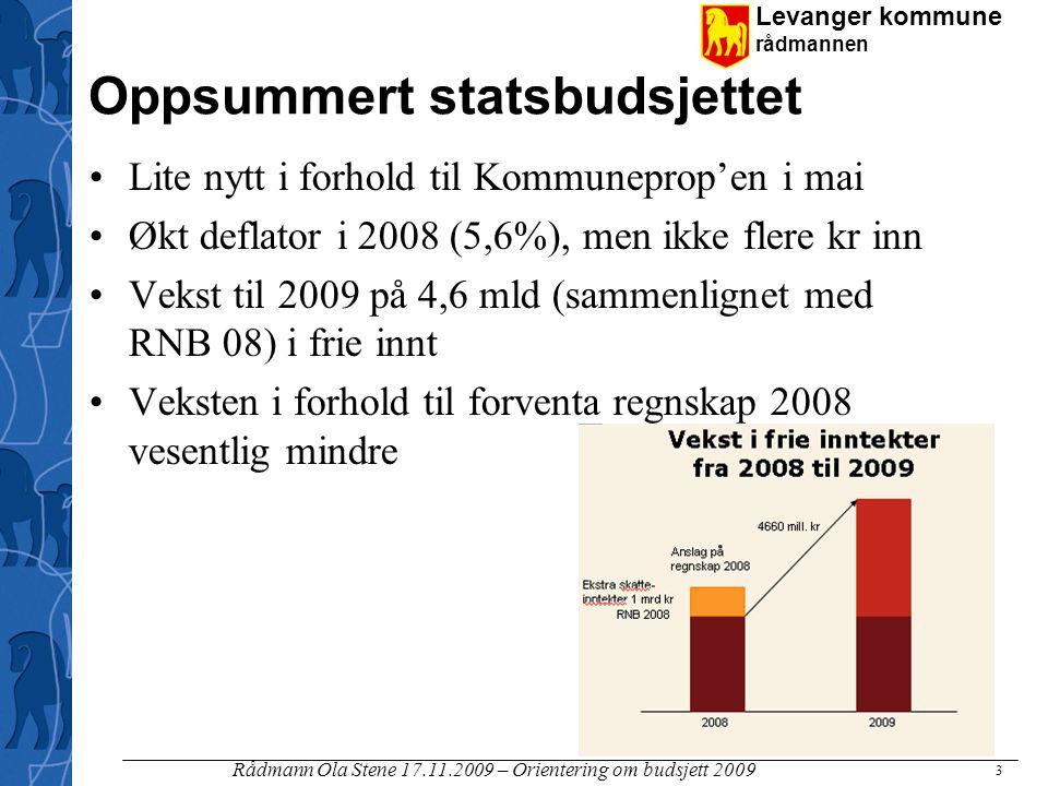 Oppsummert statsbudsjettet