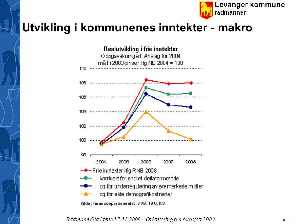 Utvikling i kommunenes inntekter - makro
