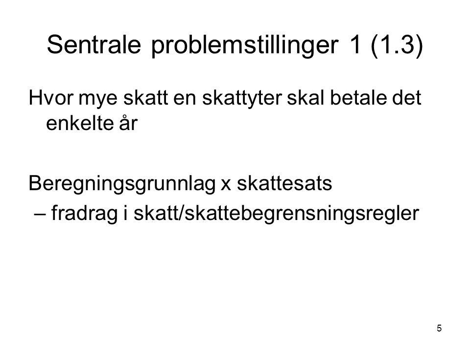Sentrale problemstillinger 1 (1.3)