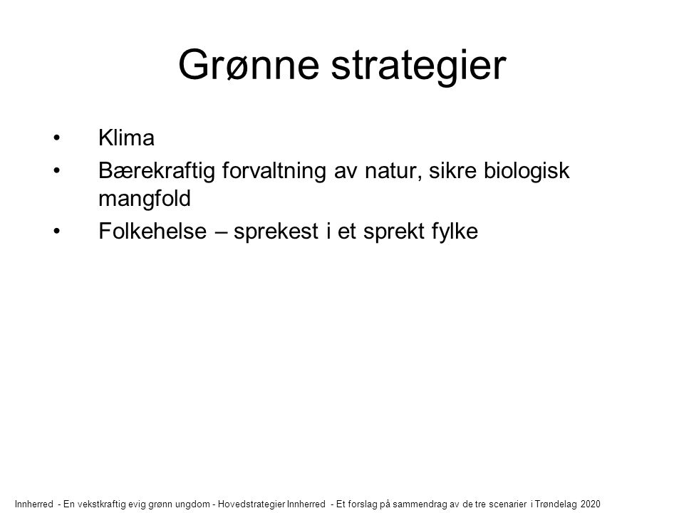 Grønne strategier Klima