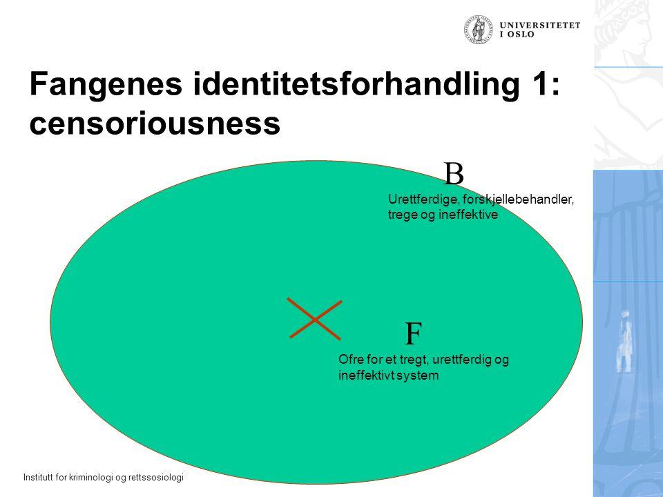Fangenes identitetsforhandling 1: censoriousness