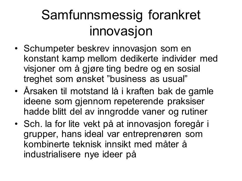 Samfunnsmessig forankret innovasjon