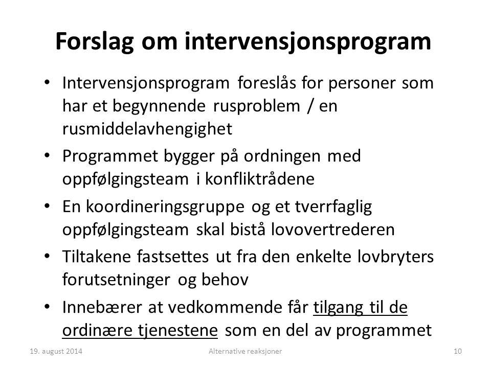 Forslag om intervensjonsprogram