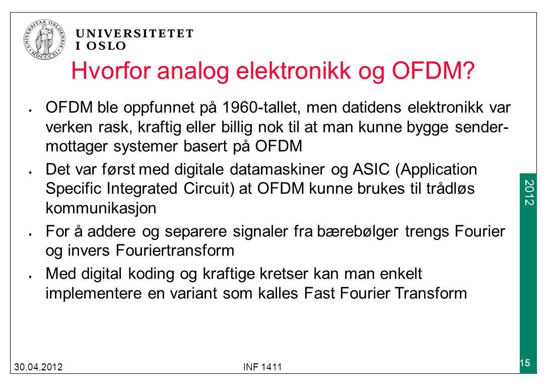 Hvorfor analog elektronikk og OFDM