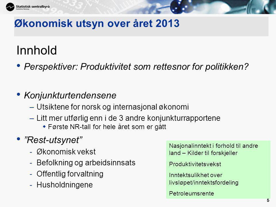 Økonomisk utsyn over året 2013