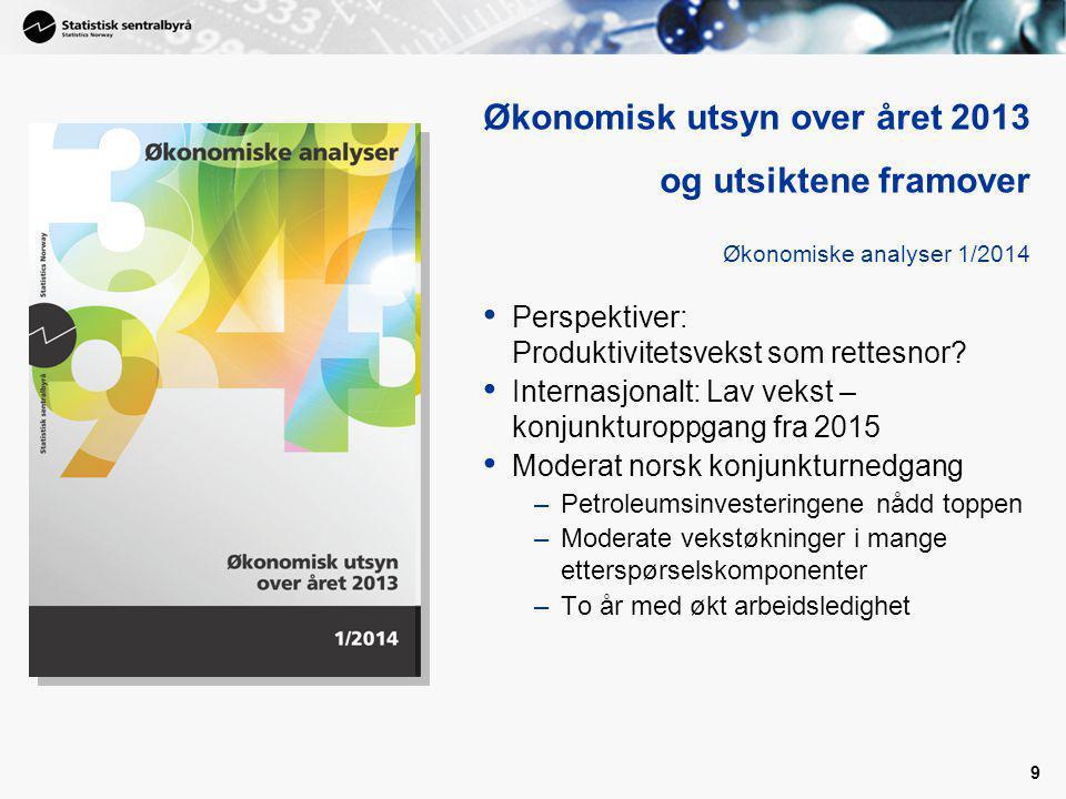 Økonomisk utsyn over året 2013 og utsiktene framover Økonomiske analyser 1/2014