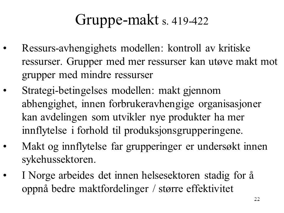 Gruppe-makt s. 419-422