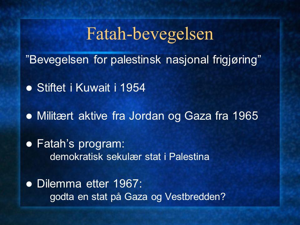 Fatah-bevegelsen Bevegelsen for palestinsk nasjonal frigjøring