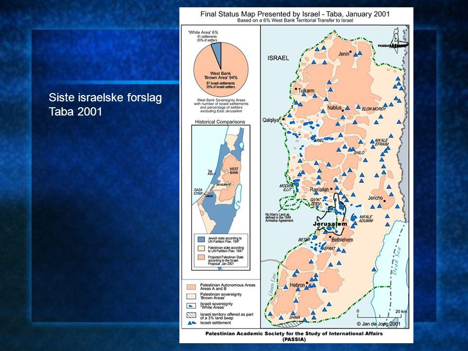 Siste israelske forslag