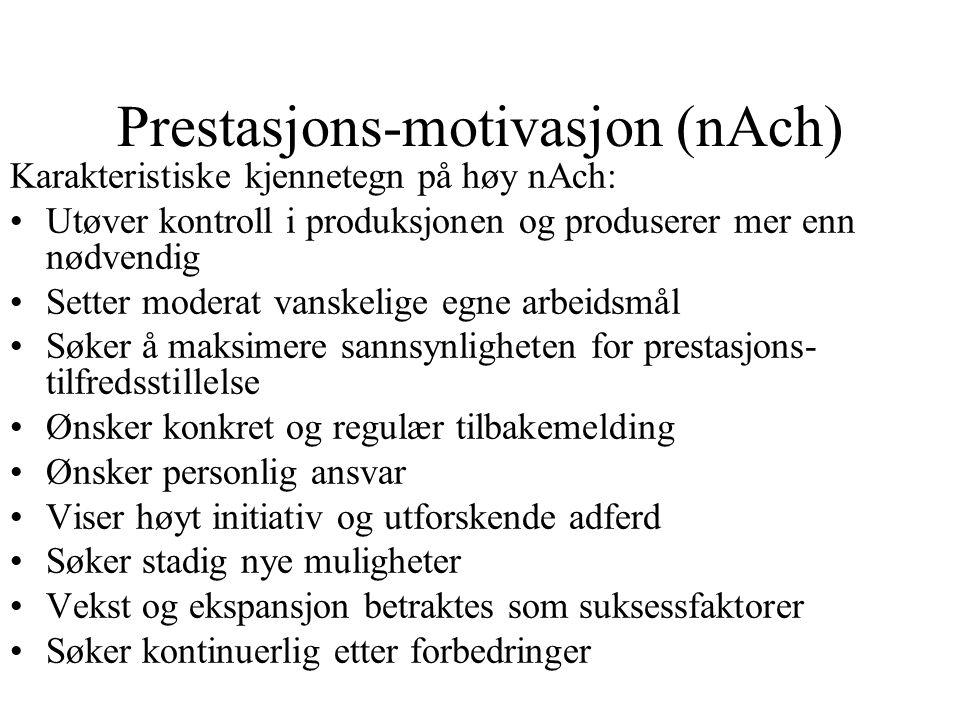 Prestasjons-motivasjon (nAch)
