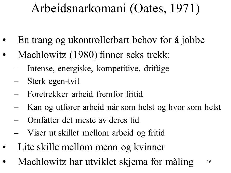 Arbeidsnarkomani (Oates, 1971)