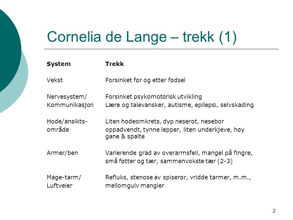 Cornelia de Lange – trekk (1)
