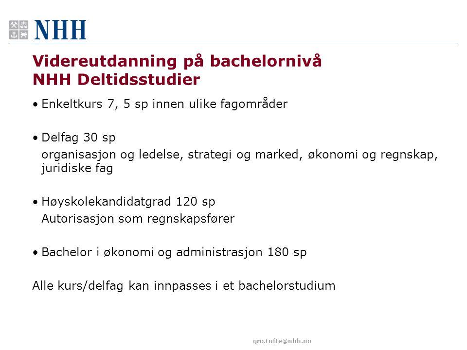 Videreutdanning på bachelornivå NHH Deltidsstudier