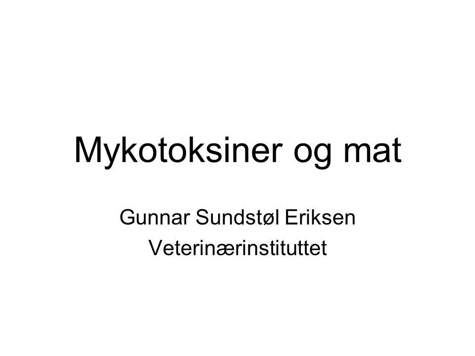 Gunnar Sundstøl Eriksen Veterinærinstituttet