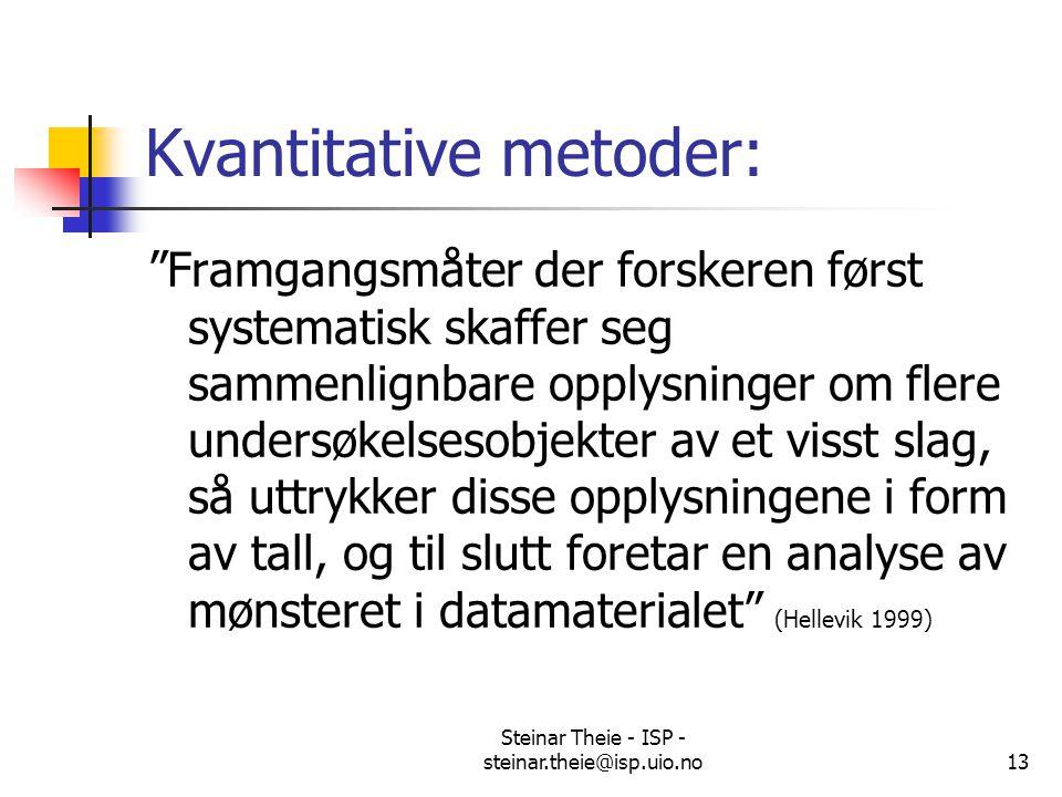 Kvantitative metoder: