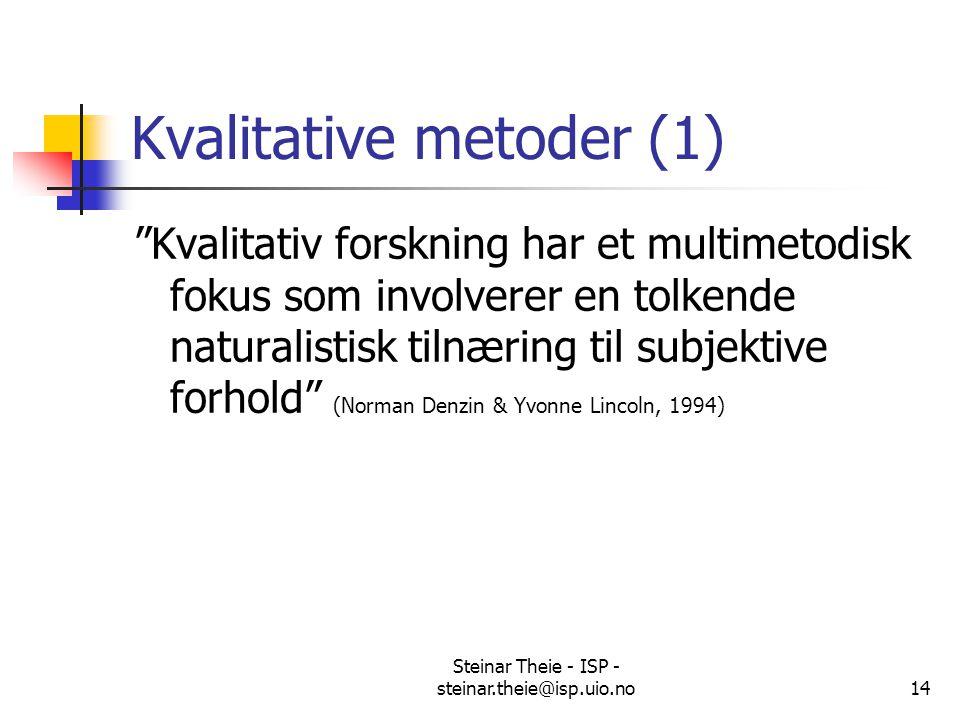 Kvalitative metoder (1)