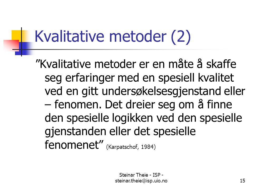 Kvalitative metoder (2)