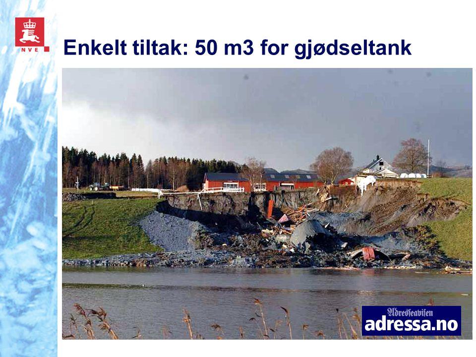 Enkelt tiltak: 50 m3 for gjødseltank