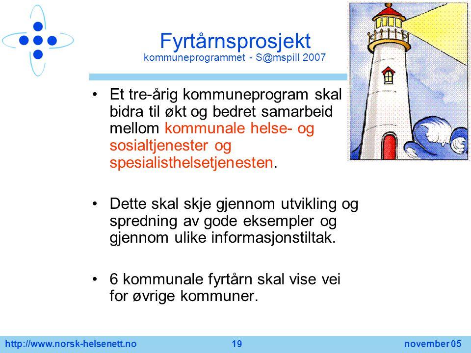 Fyrtårnsprosjekt kommuneprogrammet - S@mspill 2007