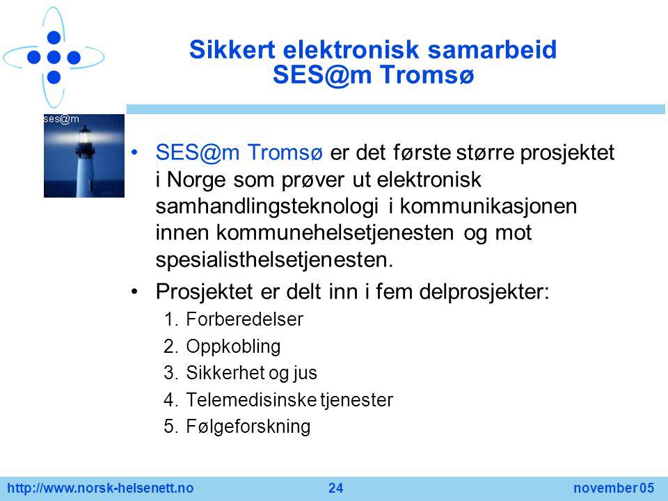 Sikkert elektronisk samarbeid SES@m Tromsø