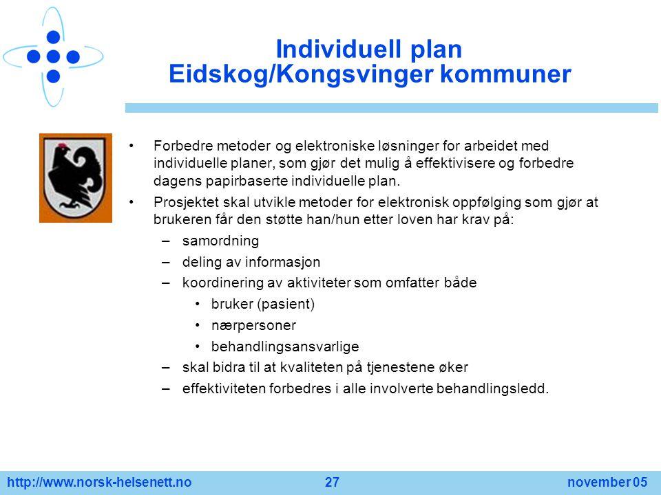 Individuell plan Eidskog/Kongsvinger kommuner