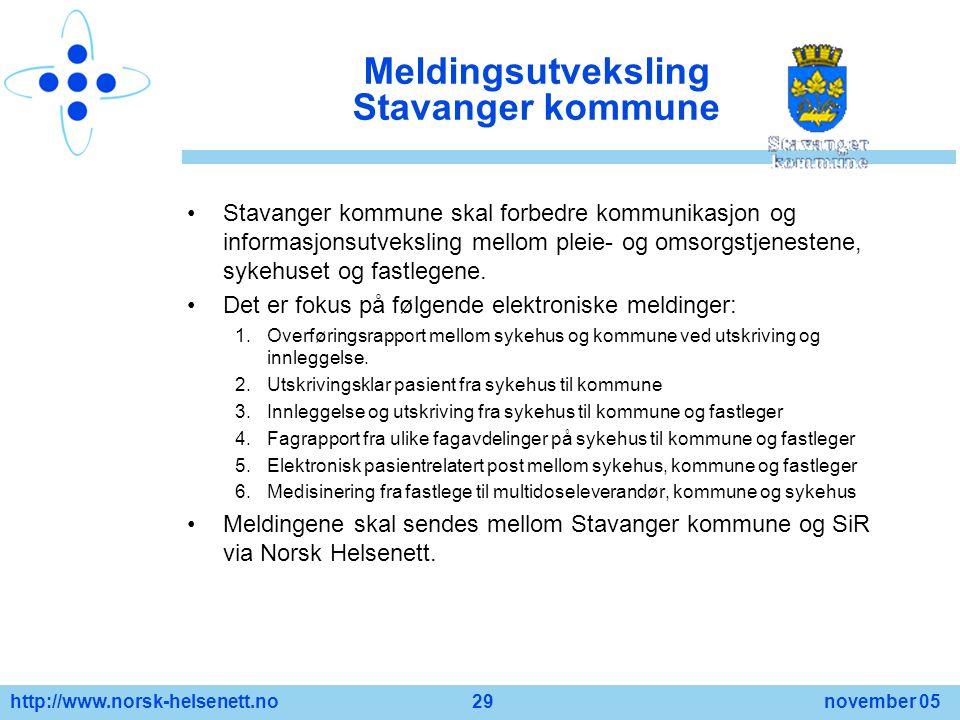 Meldingsutveksling Stavanger kommune