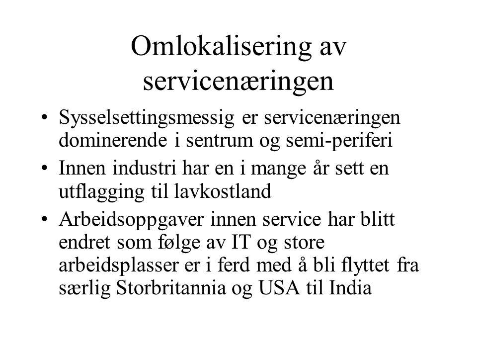 Omlokalisering av servicenæringen