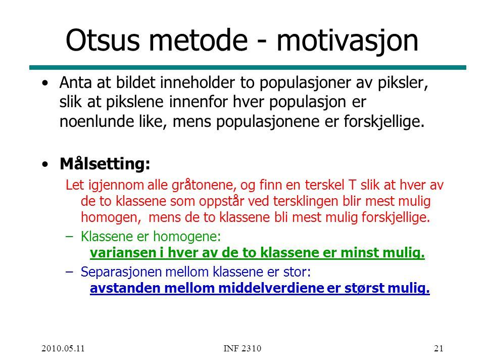 Otsus metode - motivasjon