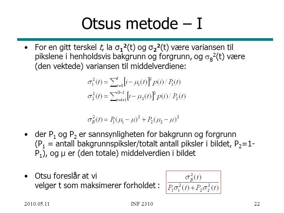 Otsus metode – I