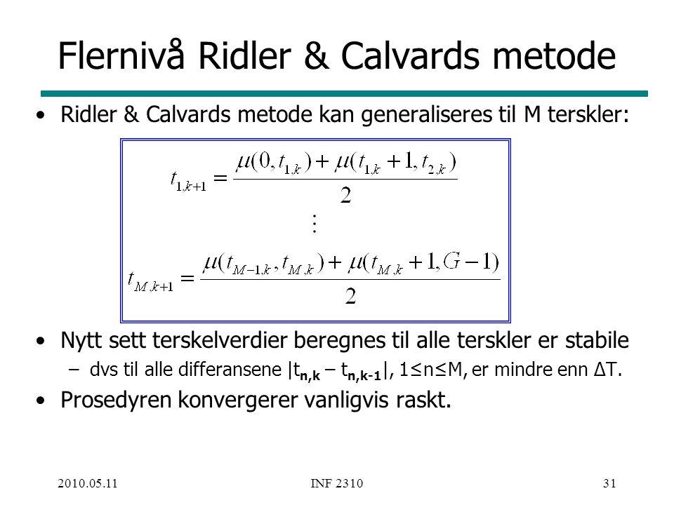 Flernivå Ridler & Calvards metode