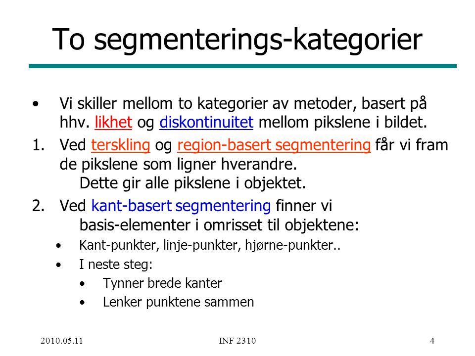 To segmenterings-kategorier