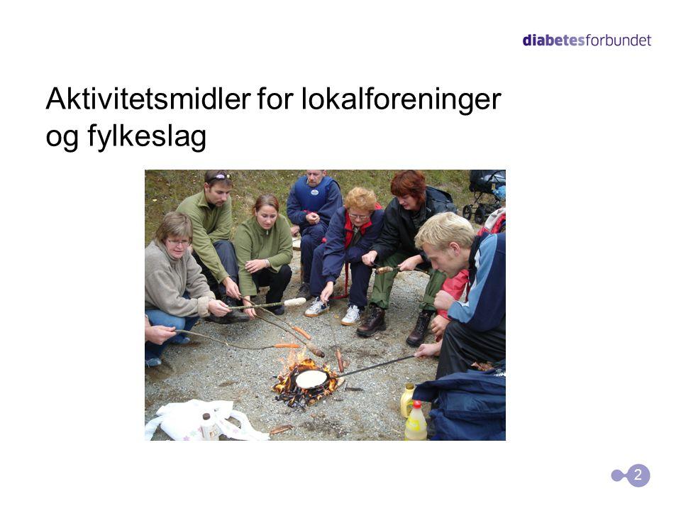 Aktivitetsmidler for lokalforeninger og fylkeslag