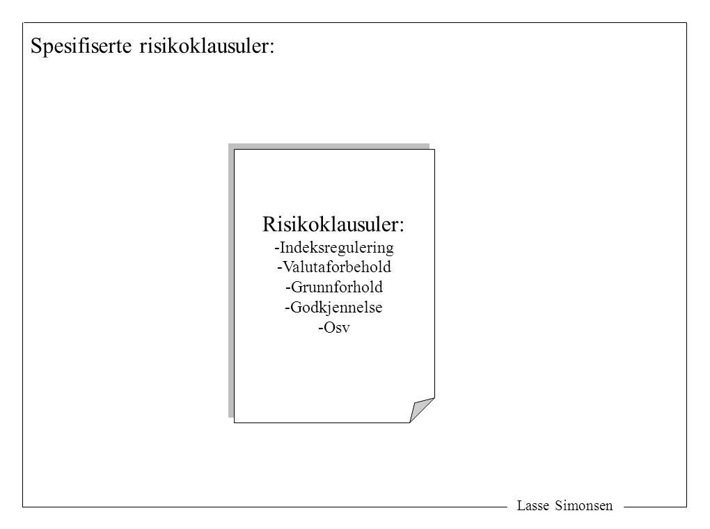 Spesifiserte risikoklausuler: