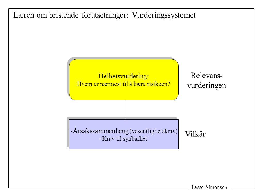 Læren om bristende forutsetninger: Vurderingssystemet